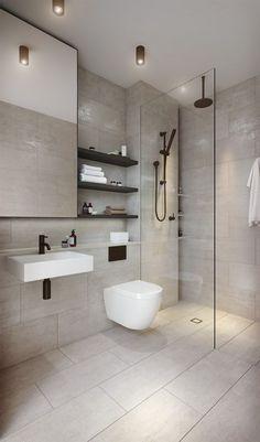 64 Adorable Bathroom Tile Design Ideas And Decor bathroom tile ideas, bathroom decoration, moder bathroom design, small bathroom ideas Bathroom Tile Designs, Modern Bathroom Decor, Modern Bathroom Design, Bathroom Interior Design, Toilet And Bathroom Design, Contemporary Bathrooms, Minimalist Bathroom Design, Modern Toilet Design, Small Bathroom Ideas