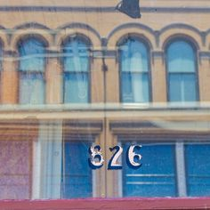 #826 #numbers #sign #signage #type #typography #reflections