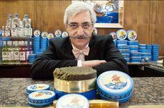 Armen #Petrossian with his favorite treat.