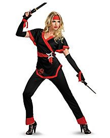 Dragon Ninja Adult Womens Plus Size Costume - Capture the art of the dragon in this fiery Dragon Ninja adult womens plus size costume. The black and red, polyester top of this womens ninja Dress Up Costumes, Adult Costumes, Costumes For Women, Ninja Costumes, Costume Ideas, Mom Costumes, Red Costume, White Costumes, Holiday Costumes
