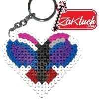 Сърчице - ключодържател изработено от пластмаса - ръчна изработка (handmade)