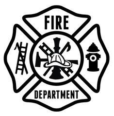 High Quality Custom Sticker Fire Dept Maltese Fire Gear