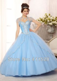 dress patterns prom dresses Picture - More Detailed Picture about Coral 15 birthday dress Embroidered and Beaded Bodice Tulle Ball Gown baby blue quinceanera dresses with Sweep Train Picture in Quinceanera Dresses from SuZhou Epairs Wedding Dress Factory