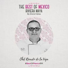 """Conoce al Chef de nuestro Restaurante Frida Ricardo de la Vega quien será anfitrión de nuestro próximo encuentro gastrónomico """"The Best Of Mexico Riviera Maya"""" 2016. Espéralo muy pronto!  bestofmexico.velasresorts.com #BestOfMexicoRM #GrandVelas #RivieraMaya #VelasResorts"""
