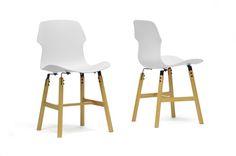 Baxton Studio Voxx White Modern Dining Chair (Set of 2) | Wholesale Interiors