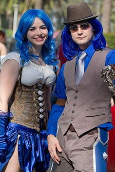 """Blizz Con 2011...one great looking couple.To find more photos search...""""the Costumes of Blizz Con 2011"""" ...there are many more to go and they are all quite amazing!""""  Carol"""