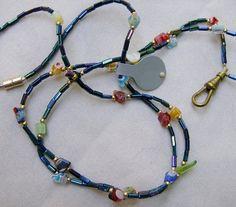Handmade ID Lanyard/Chain  Beautiful Multicolor by JewelryArtistry, $9.00