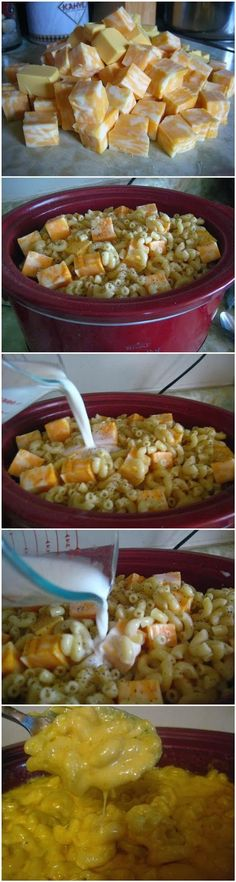 Crock Pot Mac and Cheese ~ Focuseat-bet this can be made with lo fat everything and garden delight noodles!
