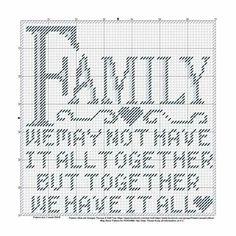 Family plastic canvas