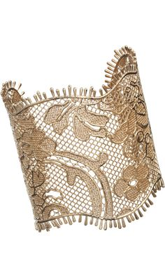 Amazing gold lace Givenchy cuff! #lace #cold #givenchy #jewerly #cuff #bracelet www.gmichaelsalon.com