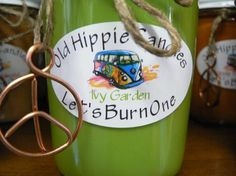 Our Ivy Garden candle has an awesome cucumber ivy fragrance that seems so real you might think your sitting out in a garden on a beautiful spring morning!  Old Hippie Candles are 100% hippie made with all natural soy wax and essential oils, we only use cotton or hemp wicks for a clean slow burn...