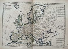 L'Europe. - Antique Maps and Charts – Original, Vintage, Rare Historical Antique Maps, Charts, Prints, Reproductions of Maps and Charts of Antiquity