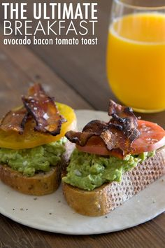 Avocado, bacon and tomato toast from What's Gaby Cooking