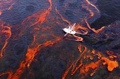 Oil in the sea