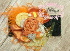 Hey, I found this really awesome Etsy listing at https://www.etsy.com/listing/205212134/candy-corn-couture-headband-mtm-our-love