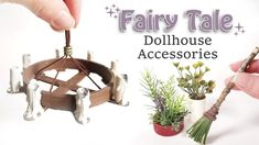 EASY DIY Dollhouse Items: Plants and Candle Chandelier (Cardboard House)