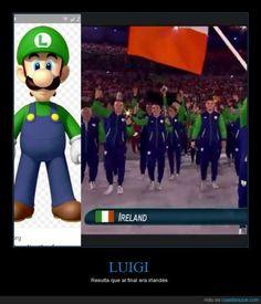 Luigi irlandés - Resulta que al final era irlandés   Gracias a http://www.cuantarazon.com/   Si quieres leer la noticia completa visita: http://www.estoy-aburrido.com/luigi-irlandes-resulta-que-al-final-era-irlandes/