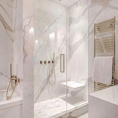 White and gray bathroom - # white - Badgestaltung ideen - Badezimmer Modern Master Bathroom, Grey Bathrooms, Small Bathroom, Bathroom Marble, Bathroom Mirrors, Bathroom Cabinets, Minimalist Bathroom, Luxury Bathrooms, Master Baths