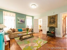 Large living space in this 3 bedroom room share in #Brooklyn #NYC http://www.nyhabitat.com/new-york-apartment/roommate-share/16455