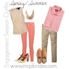 Spring/Summer Engagement Session Outfit Ideas Coral and Ivory mcpbrides.com Elizabethtown, KY