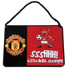 Manchester United F.C. Bedroom Sign Mascot