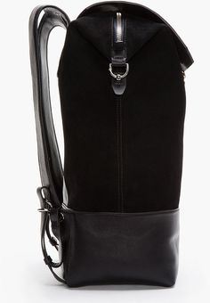 f33f0319400 Alexander Wang Black Suede and Leather Bicolor Explore Backpack in Black  for Men - Lyst Black