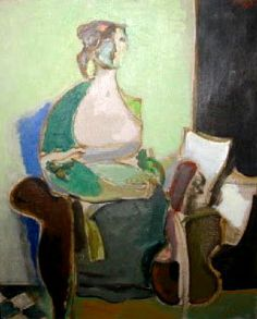 Woman in an armchair by Moshe Rosenthalis now featured on ArtDealer
