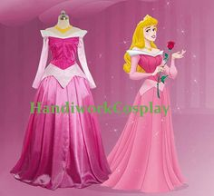 handmade in China using measurements Disney Dress Sleeping Beauty Princess Aurora  by HandiworkCosplay, $82.00