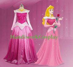 handmade in China using measurements Disney Dress Sleeping Beauty Princess Aurora  by HandiworkCosplay, $82.00