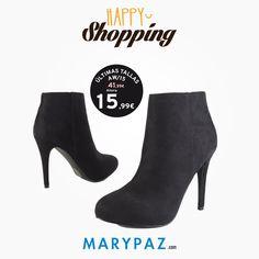 Happy shopping by MARYPAZ ¿Qué os parece nuestra propuesta de hoy?   ¡ AHORA aprovéchate de las ÚLTIMAS TALLAS AW15 en TIENDA y ONLINE marypaz.com Compra ya en tu tienda MARYPAZ más cercana o en marypaz.com !   #happyshopping #moda #cool #porquetelomereces #comprasfelices   Compra ya esta BOTÍN DE TACÓN REBAJADO aquí ► http://www.marypaz.com/tienda-online/botin-de-tacon-y-plataforma-oculta-53053.html?sku=72852-35