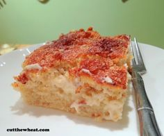 Low Carb Cinnamon Cream Cheese Squares by LeeAnn Mullen of Cut the Wheat