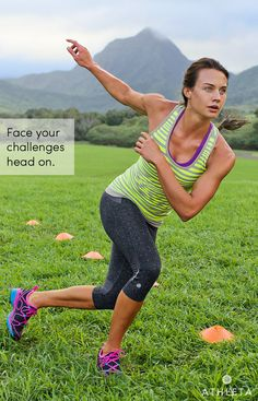 Face your challenges head on.  #powertotheshe  Pretty sure I these running tights will make me run?