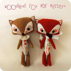 Woodland Fox pdf Pattern  Instant Download by Gingermelon on Etsy, $6.50