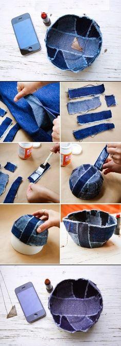 DIY Jean Bowl