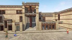 Astounding animations reconstruct Knossos, the ancient palace stronghold of the Minoans, the predominant Bronze Age people of Crete. Ancient Egyptian Cities, Ancient Ruins, Ancient Greece, Ancient Artifacts, Greek History, Ancient History, European History, Art History, American History