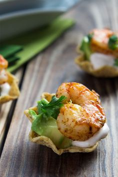 Shrimp Taco Bites   I Wash You DrySmoky, spicy and utterly delicious, these mini shrimp bites combine fresh fish with sour cream and smoky chipotle chillies.
