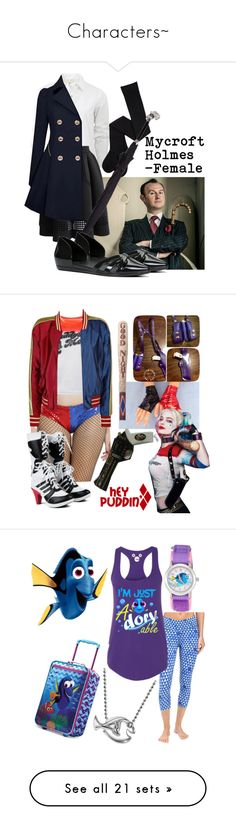 """""""Characters~"""" by inuyasha-stylings ❤ liked on Polyvore featuring rag & bone, Chicwish, Alexander McQueen, ALDO, Tasc Performance, Disney, Alex Woo, Jimmy Choo, Poppy Jewellery and Casetify"""