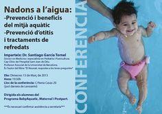 Conferencia bebes al agua. Beneficios que aporta el agua a los bebés. Tratamientos de los resfriados y más preguntas. Lenoarmi.com