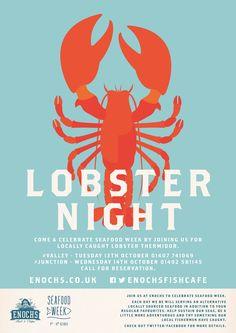 Poster illustration for Seafood week for Enochs.