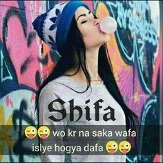 Hahahhaha.. Exactly shayari Pinterest Attitude
