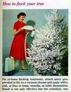 Christmas. Flocking spray gun ad