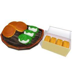 どら焼き、今川焼き、柏餅とおぼんのセットです。 すべてかじりモーフ付き。 大きい画像はこちらで http://seiga.nicovideo.jp/seiga/im464...