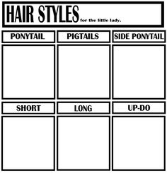 Hairstyle Meme Blank By Altalamatoxdeviantartcom On - Hairstyle drawing meme