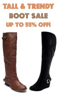 Tall and Trendy Boot Sale!  {I'm LOVING these cute boots!}