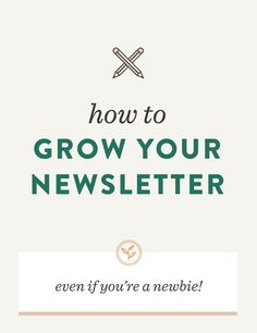 How to grow your newsletter, even if you're a newbie! // Curious on how to start growing your newsletter and build your audience in a non-salesy way? I'm sharing my secrets on growing your newsletter list in an authentic and intentional way. Email Marketing Strategy, Small Business Marketing, Content Marketing, Online Marketing, Social Media Marketing, Inbound Marketing, Digital Marketing, Creative Business, Business Tips