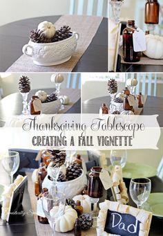 Thanksgiving Decor | A Thanksgiving Tablescape | Creating a Fall Vignette | #thanksgiving #tablescape #decor