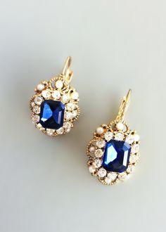 Elegant Sapphire Earrings – Pree Brulee