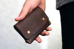 Sieh dir dieses Produkt an in meinem Etsy-Shop https://www.etsy.com/de/listing/485833629/brauner-leder-geldbeutel-portemonnaie