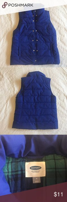 Blue Old Navy Puffy Vest Puffy vest in very good condition. Old Navy Jackets & Coats Vests