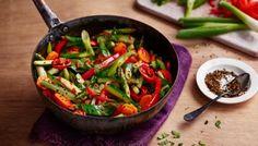 Indian five-spice vegetable stir-fry